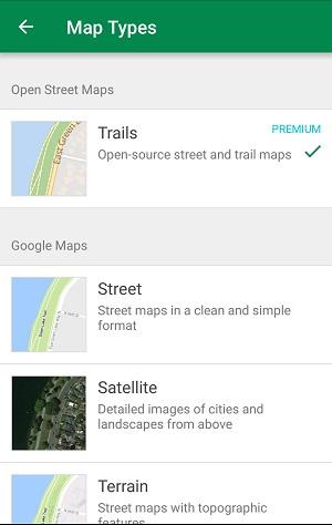 chose trail maps