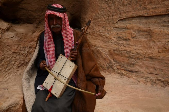 Bedouin man with instrument