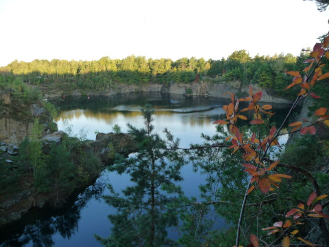 The old quarry that is now Horka Lake.