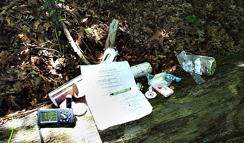 The contents found in the first Mystery Cache