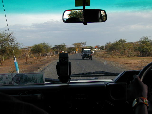 Driving to the world's first Virtual Cache in Kenya