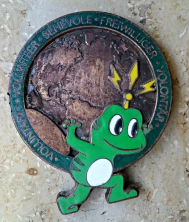 The Froggy GeoCoin after it had been found