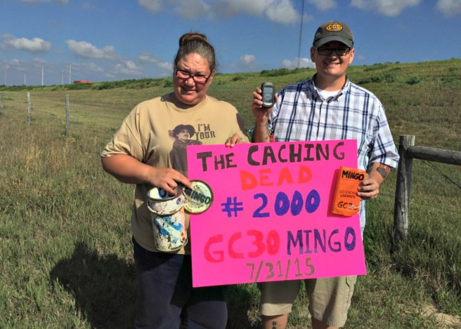 The Caching Dead log their 2000th find at Mingo