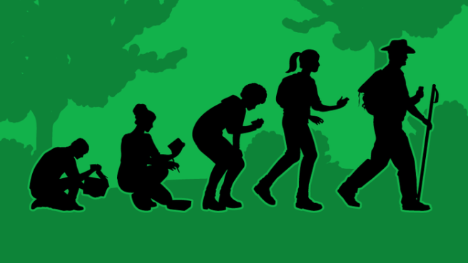 Evolution of geocaching