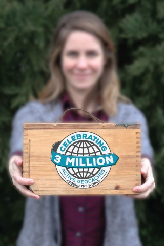 Celebrate 3 million geocaches with new souvenir!