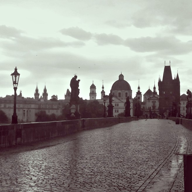 Charles Bridge on an overcast day