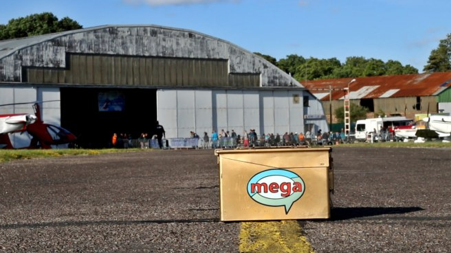 "The theme for the GeoNord 2017 Mega was ""air"" and held at an old airfield."