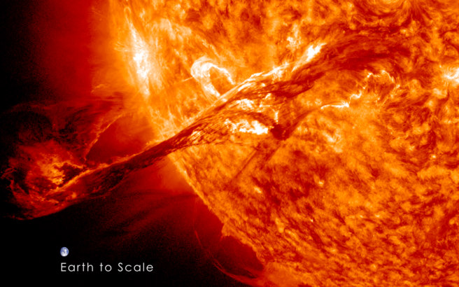 Solar superstorm