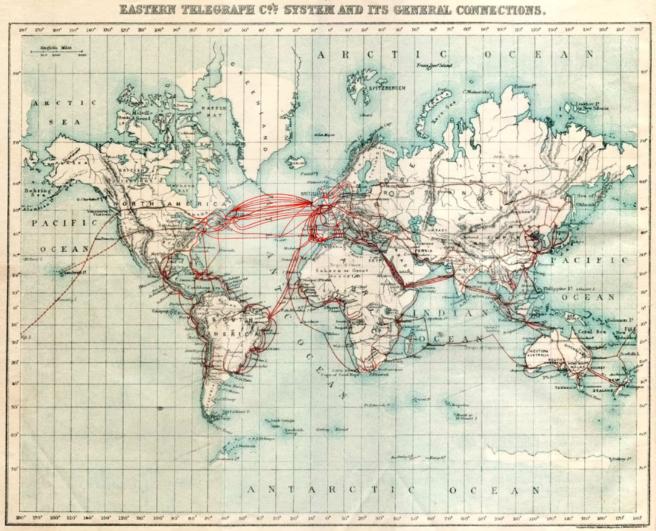 Telegraphs around the world