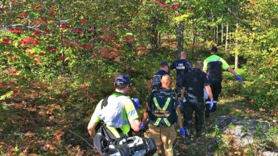 Nippissing, Ontario EMS and NBFS making the rescue