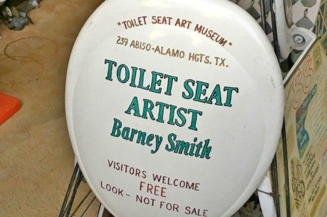"""Toilet Seat Artist Barney Smith"""