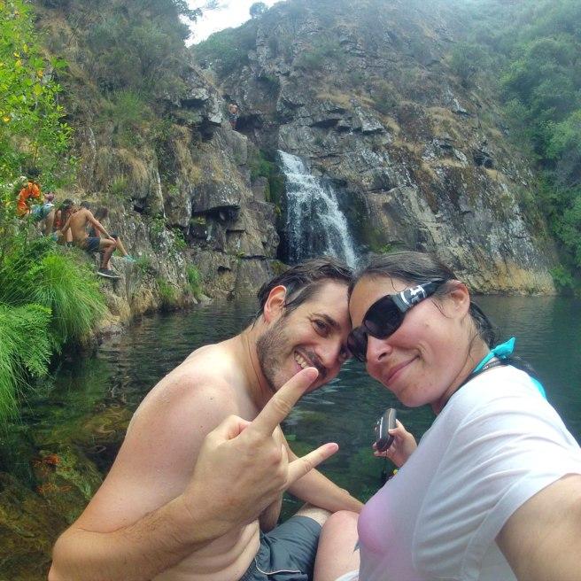 At the lagoon and waterfall