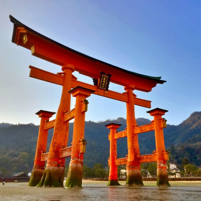 The Itsukushima Shinto Shrine is listed as a UNESCO World Heritage Site and considered a Japanese National Treasure.