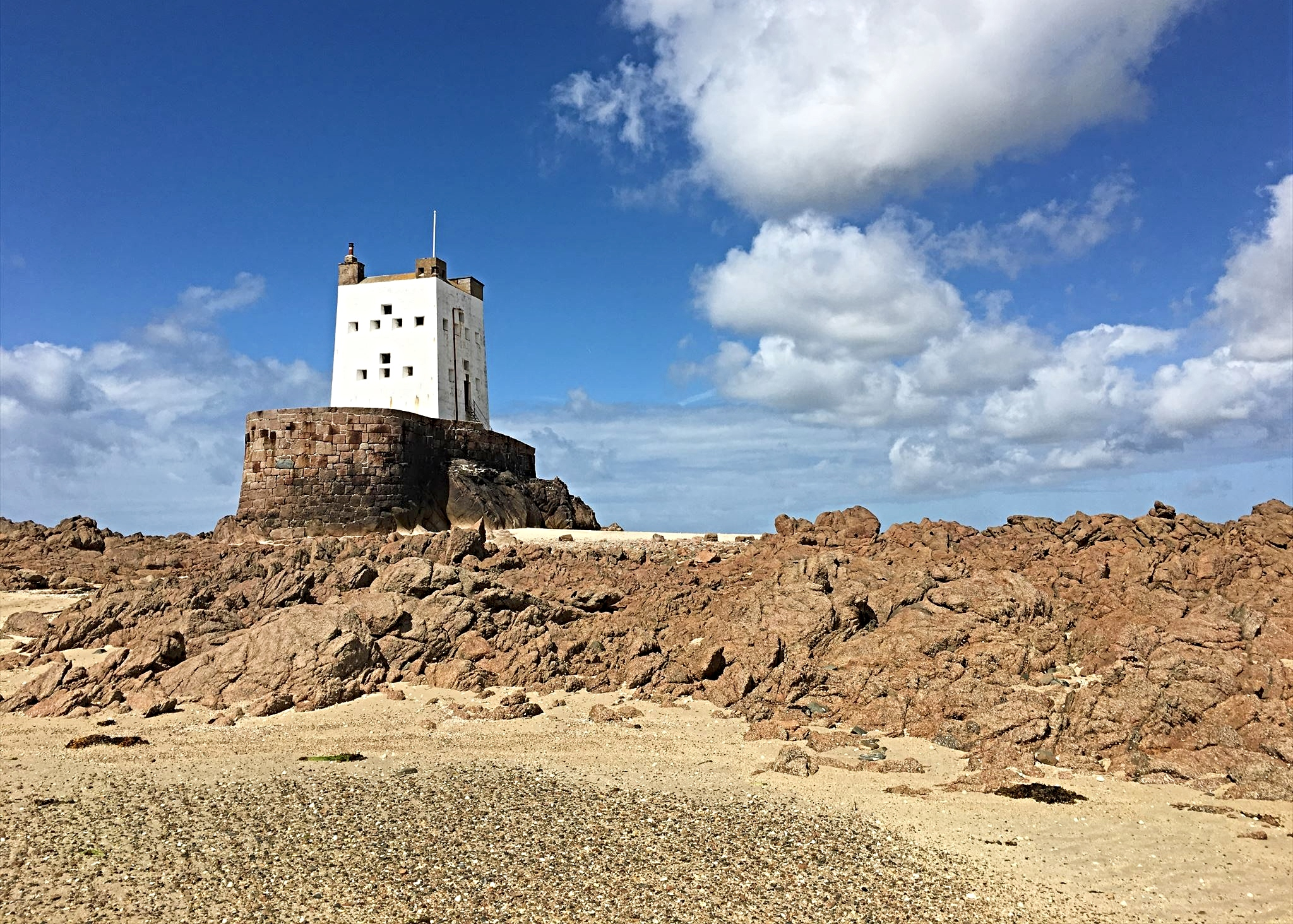 Seymour Tower at low tide