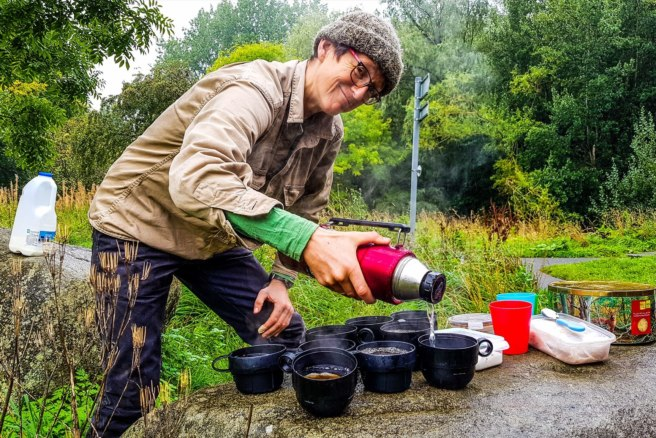 The Cutting & Seeding of Bell's Weir Meadow, Scotland — GC7W9TW Not all heroes wear capes. Some pour the tea at CITOs.
