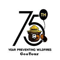 Happy Birthday and Happy GeoTour, Smokey Bear!