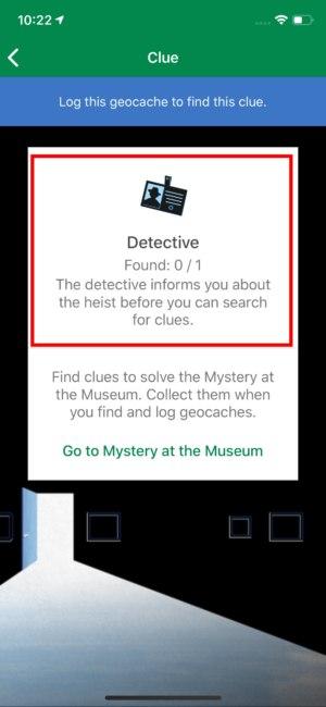 eerste clue/souvenir